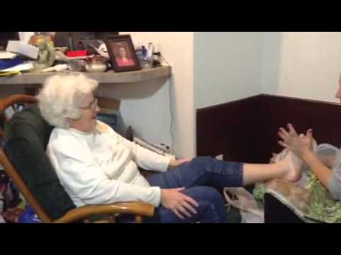 Girl gets tickled by granny
