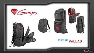9ba3bbed6256c Plecaki do laptopów i osprzętu Genesis Pallad 300/400/500 Prezentacja 3  modeli