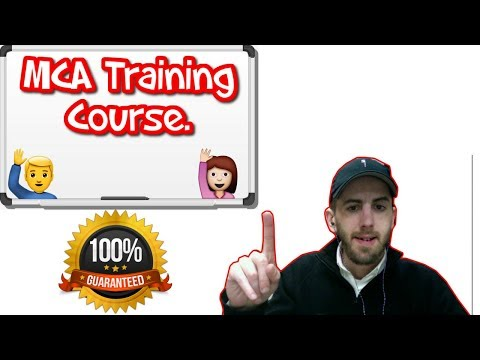 MCA Training Success Course With Alex Haney  Being Honest