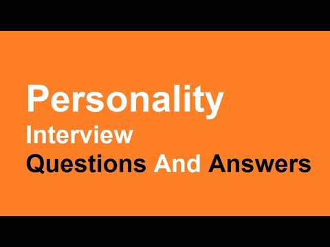 Personality Interview Questions And Answers - YouTube - personality interview questions and answers