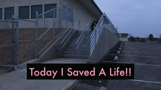 today i saved a life
