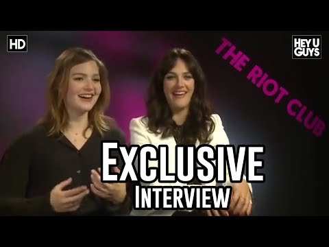 Jessica Brown Findlay & Holliday Grainger  The Riot Club Exclusive