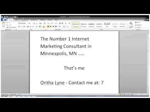 Internet Marketing Consultant in Minneapolis