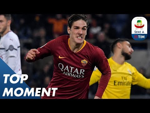 Zaniolo cancels out Piątek first-half goal | Roma 1-1 Milan | Top Moment | Serie A