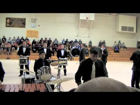 Archbishop Riordan High School  Drum Line at The 2014 NCBA Winter Championship