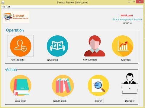2 Library Management System - The New Account Page and Database