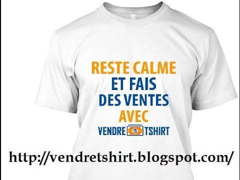 Vendre T shirts : Comment Créer et Vendre
