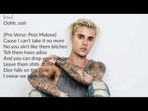 Deja Vu- Post Malone ft. Justin Bieber (Lyric Video)