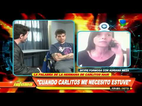 La hermana de Carlitos Nair: Reconoció su adicción a la cocaína