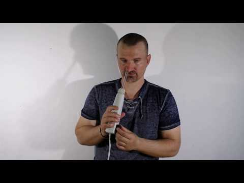 Лечение заложенности носа  с помощью аппарата Дарсонваль