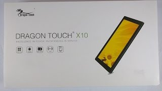 Dragon Touch X10 tablet Unboxing and Review. Benchmarking inexpensive Android Tablet
