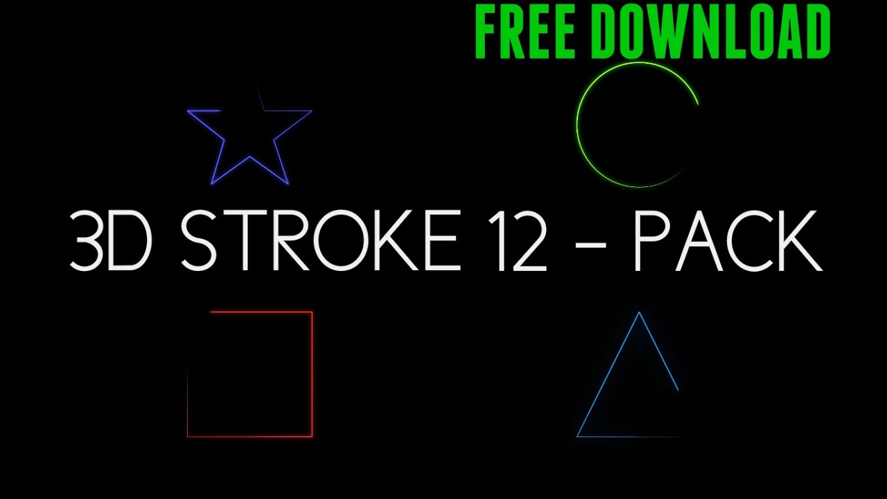 3D Stroke 12-Pack 60FPS - Sony Vegas & After Effects