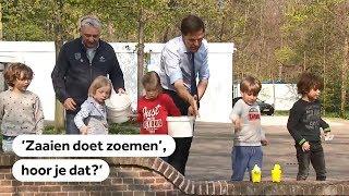Premier Rutte roept iedereen op om te gaan zaaien