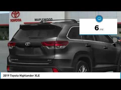 2019 Toyota Highlander XLE Maplewood, St Paul, Minneapolis, Brooklyn Park, MN K11481