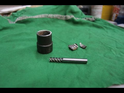 Car wheel lock nut extractor repair