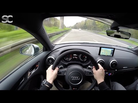 Audi RS3 (2015) on German Autobahn - POV High Speed Drive