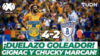 ¡Qué juego! Gignac y Lozano marcan en un partidazo I Tigres 4-2 Pachuca AP16 I TUDN