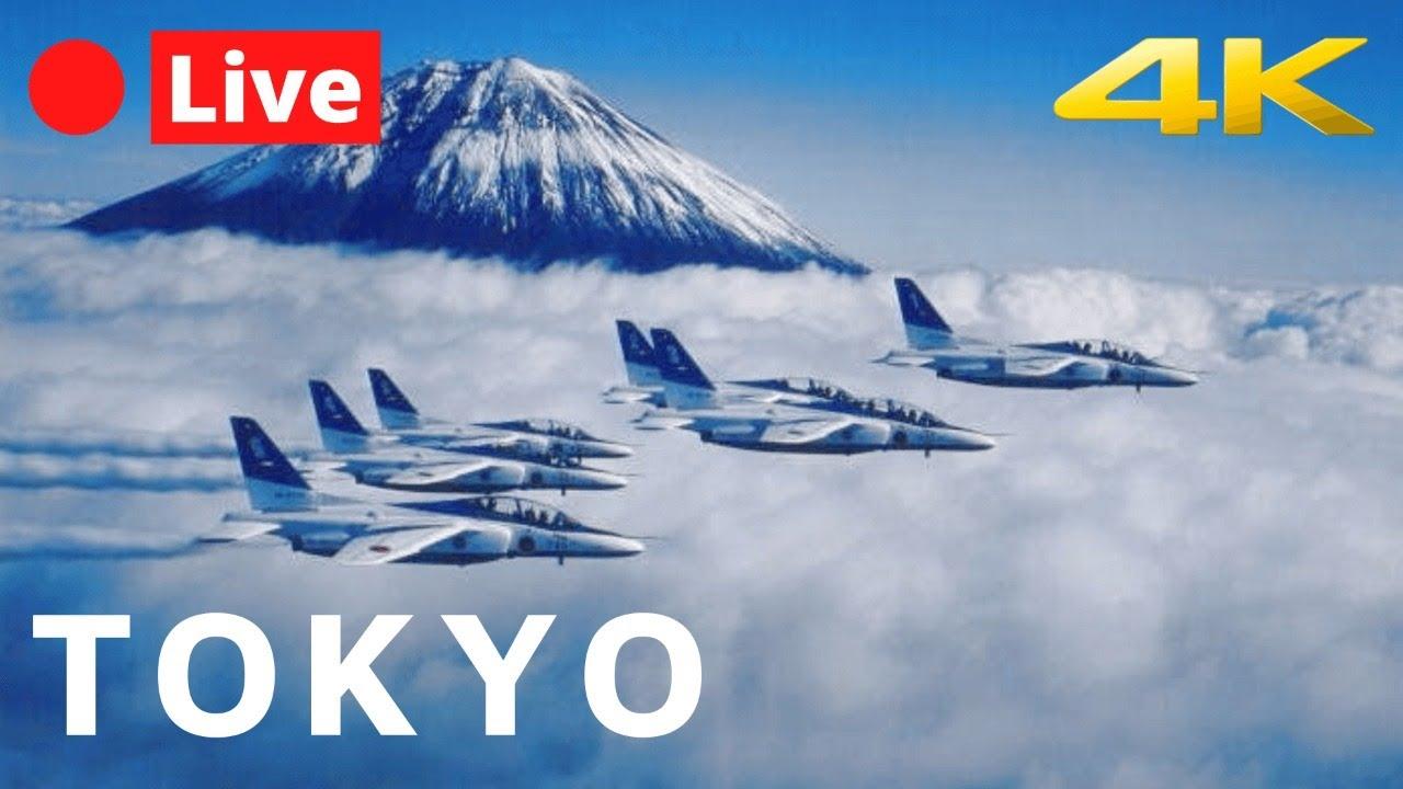 TOKYO LIVE 4K - Olympic Jet Show - Blue Impulse
