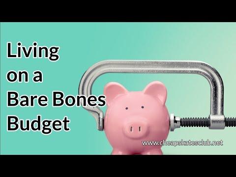 Living On A Bare Bones Budget