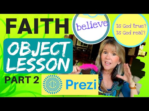 'FAITH' OBJECT LESSON (Feather Game Pt 2) KIDS MINISTRY - Wright Ideas With Susan