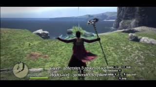 Dragon's Dogma - All Mage and Sorcerer Magic and Spells skills demonstration