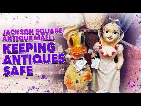 Jackson Square Antique Mall: Keeping Antiques Safe  (La Grange, Illinois)