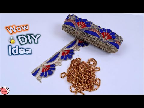 Door Hanging Toran From Old Saree Lace and Waste Materials || How to Make Door Hanging at Home
