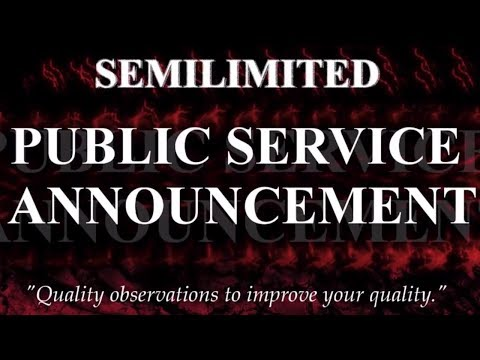 SemiLimited PSA #7 - Retroactive Continuity