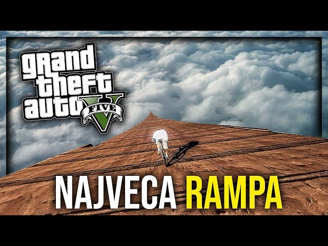 NAJVECA RAMPA IKADA - BICIKLOM !!! Grand Theft Auto V - Lude Trke w/Cale