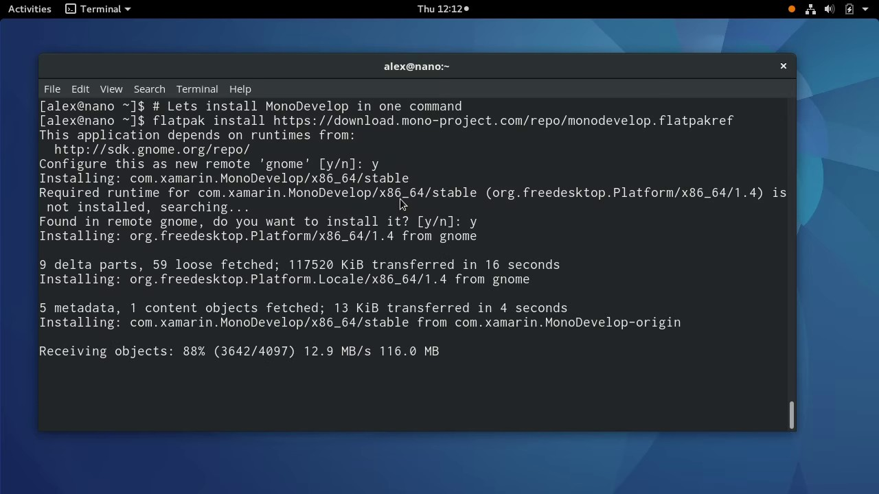 Installing MonoDevelop using flatpak