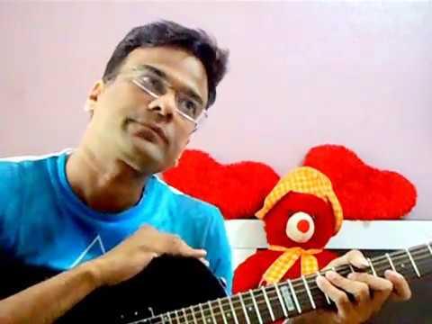 Tere Mere Sapne Ab Ek Rang Hain on Guitar... - YouTube
