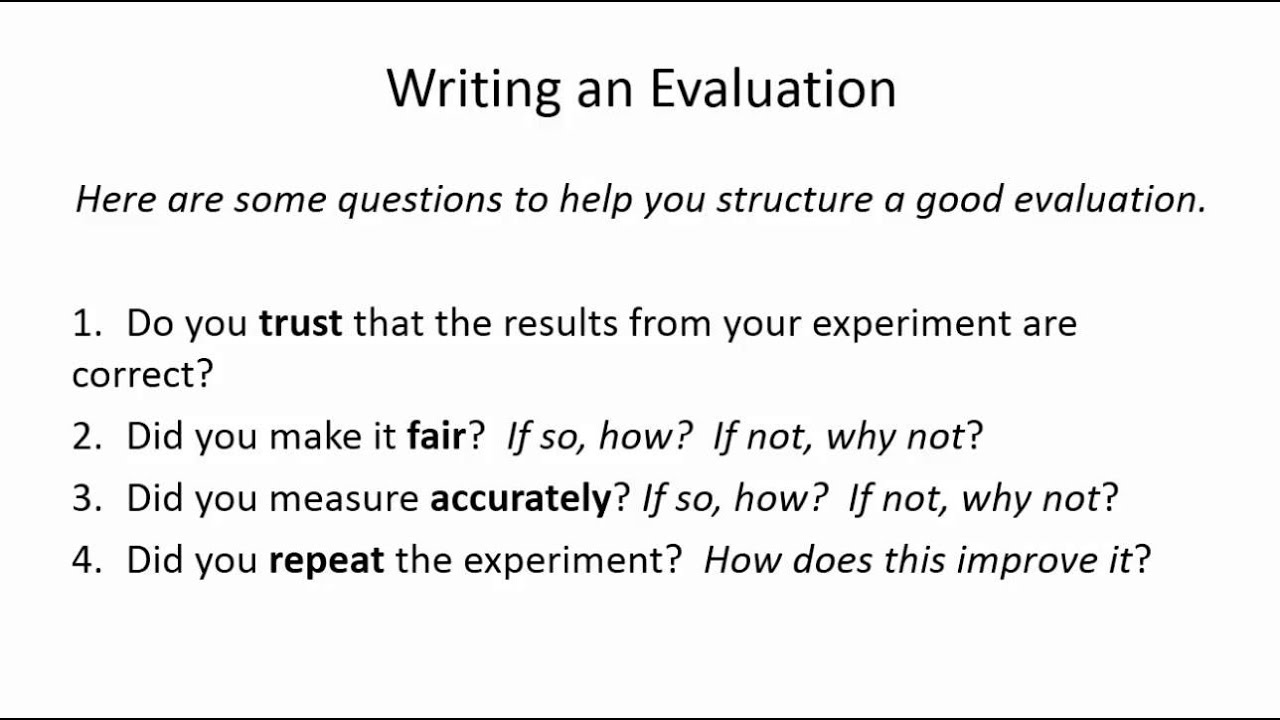 writing a good evaluation essay A good evaluation essay is supposed to evaluate strong and weak sides of a topic, basing on particular criteria.