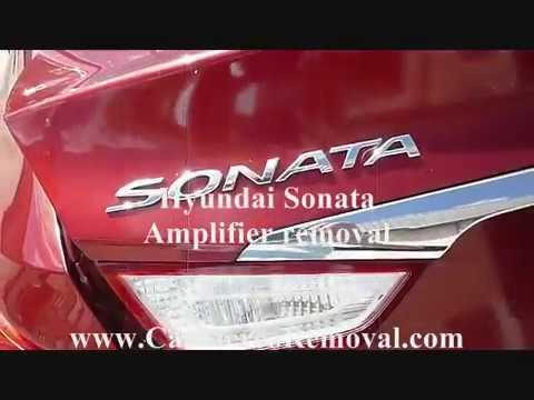 Hyundai Sonata Amplifier Removal - YouTube