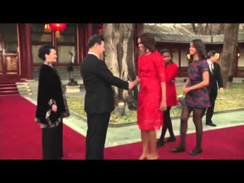 US First Lady Meets Chinese President and Wife