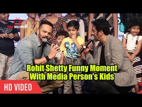 Rohit Shetty Chit Chat With Media Person's Kids | Little Singham Animation Movie Launch