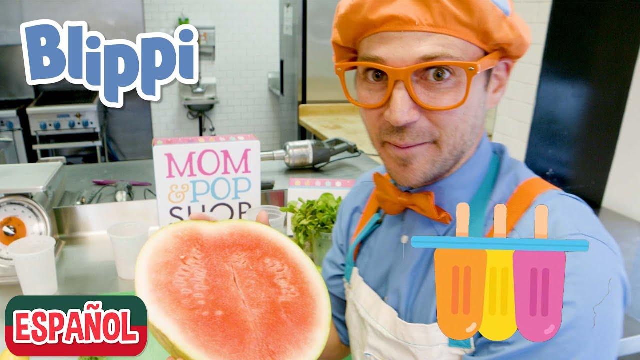 🍉Blippi hace paletas de frutas 🍉| Aprenda a comer saludablemente para los niños | Videos educativos