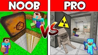 Minecraft - NOOB vs PRO : SECRET BUNKER in Minecraft ! AVM SHORTS Animation