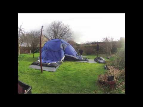 Pitching a Hi Gear Sahara 6 Tent (Time Lapse)