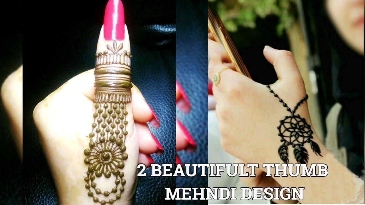 Mehndi For Thumb : Thumb mehndi henna tattoo design tutorialthumb