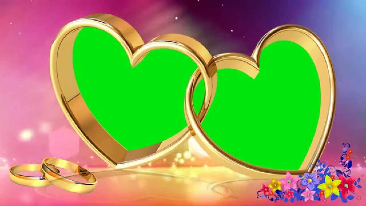 Wedding Love Frame Green Mat Background Video - YouTube
