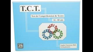 TCT, Test de Compréhension de Textes - Mot à Mot