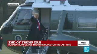 Donald Trump leaves the White House for the last time as 45th President of the United States