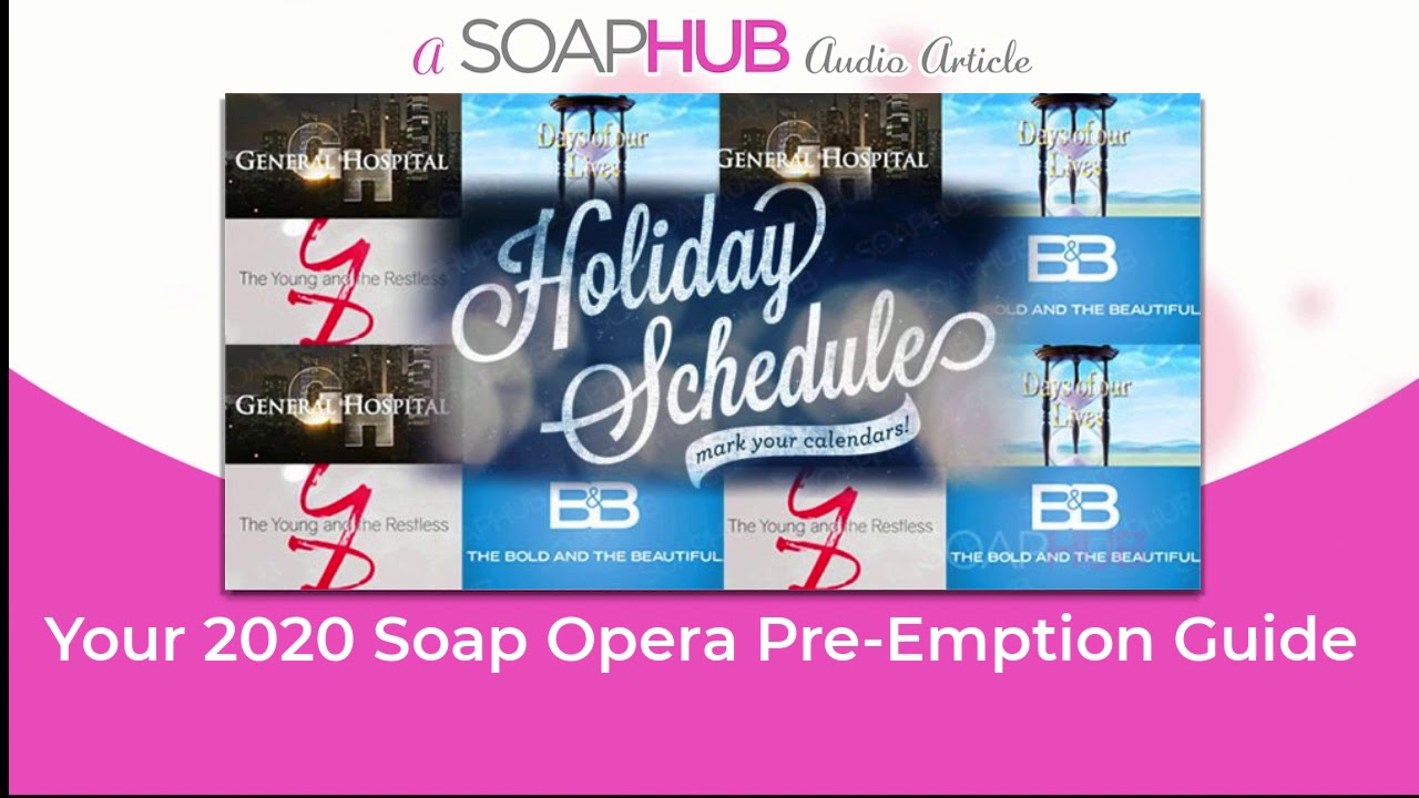Soap Opera Christmas Pre=Emptions 2021 Your 2020 Soap Opera Holiday Pre Emption Guide Youtube