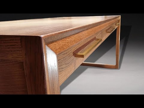 Building a Mid Century Modern Desk - Woodworking