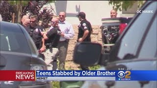 Teens Stabbed By Older Brother