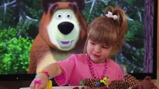 DIY детское видео на детском канале Мишка (ежик) из шишек