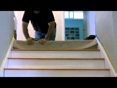 Carpet To Floor Transition On Stair A Creativecarpetrepair Com | Carpeted Stairs To Wood Floor Transition | Laminate Flooring | Staircase | Hall Carpet Transition | Metal Edge Transition | Wooden