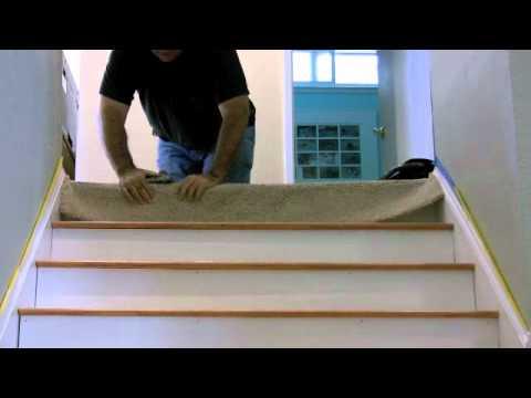 Carpet to floor transition on stair: A CreativeCarpetRepair.Com Tutorial