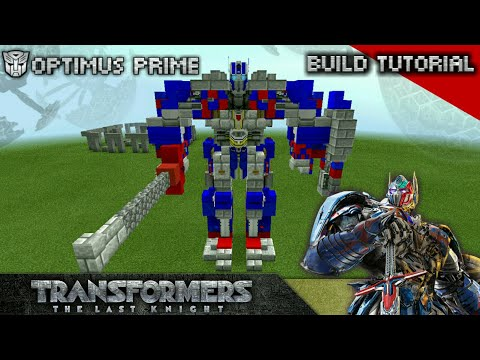Minecraft | TLK57 Carlibur [The Last Knight Optimus Prime] - Build Tutorial วิธีสร้างออพติมัสภาค5!