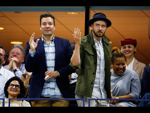 Justin Timberlake & Jimmy Fallon Dance To 'Single Ladies' At US Open! | Hollywire